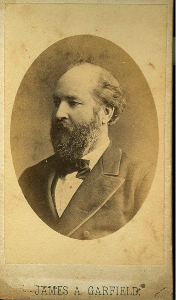 Carte De Visite CDV Or Visiting Card Featuring A Photograph By W D Gates Co Of James Garfield Circa 1881 From The Collection Author