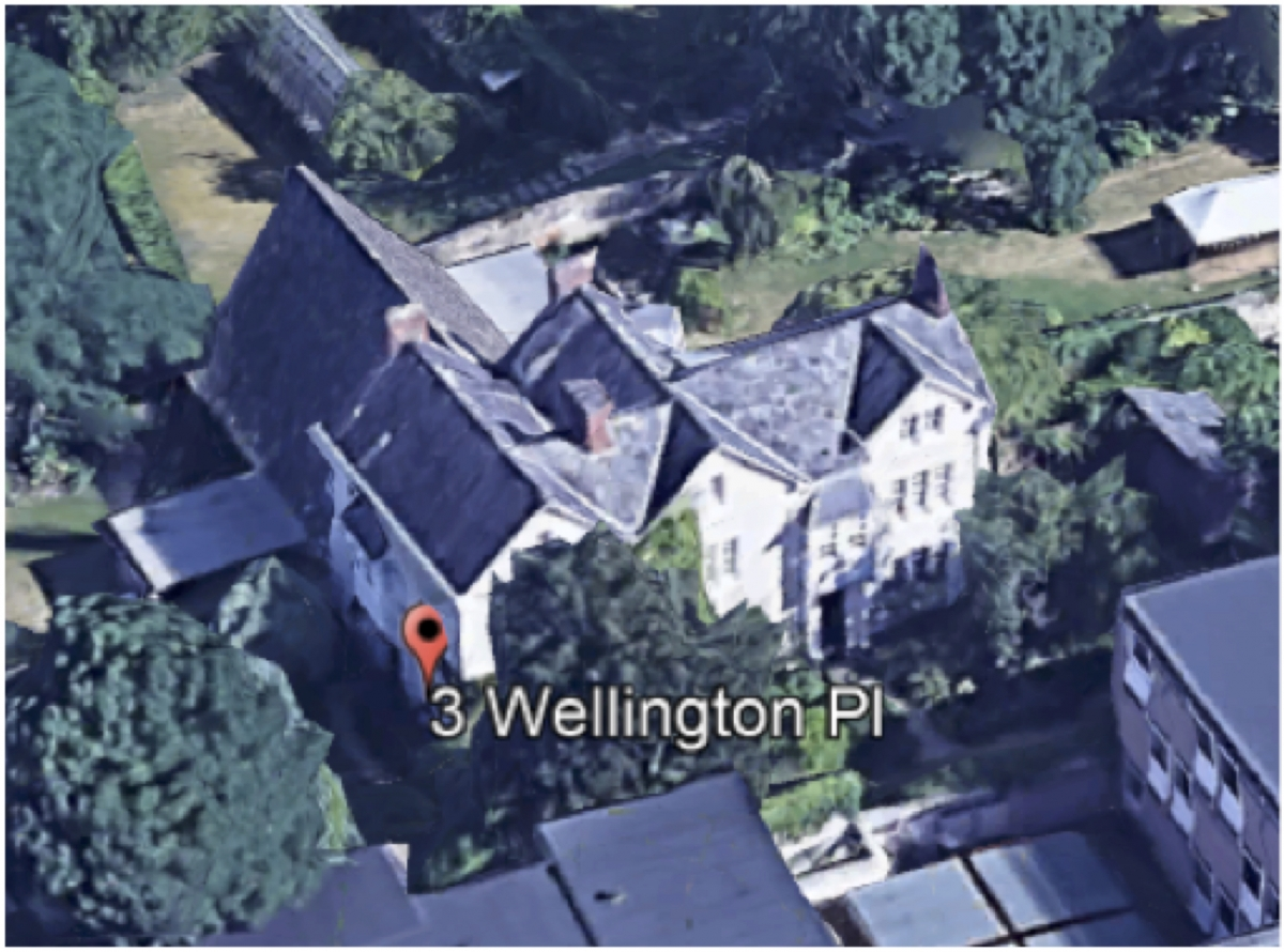 Google Earth image of Charles Dodgson's house.