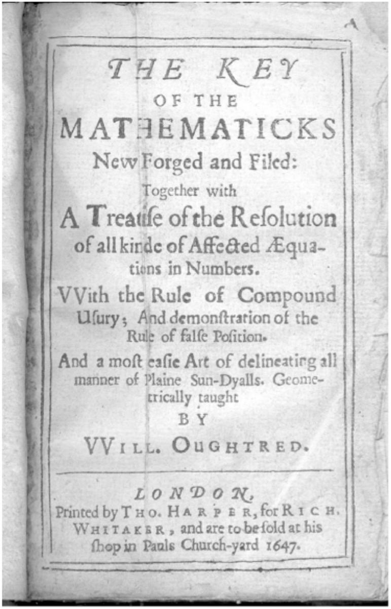 Title page for The Key of the Mathematicks (1647)