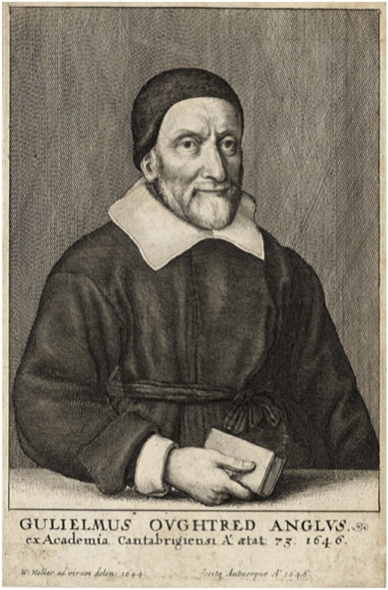 Portrait of William Oughtred, frontispiece for Key to the Mathematicks.