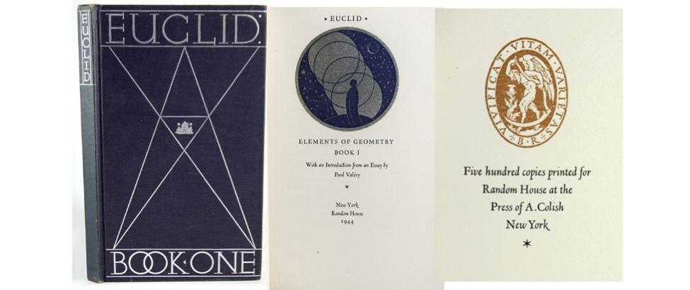 Images from the Euclid designed by Bruce Rogers