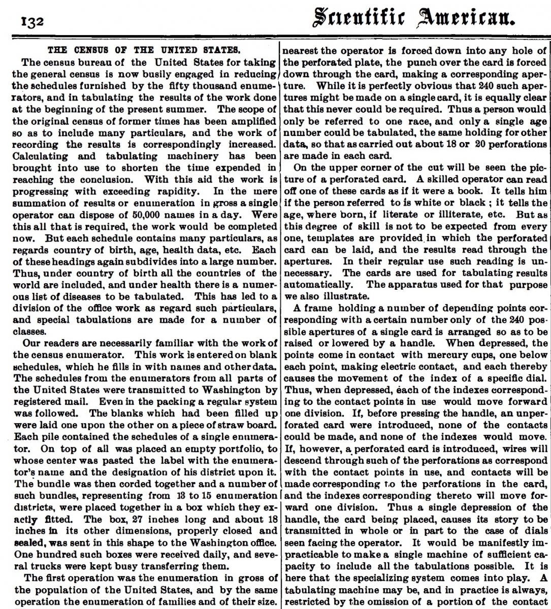 Page 132 from 30 August 1890 Scientific American.