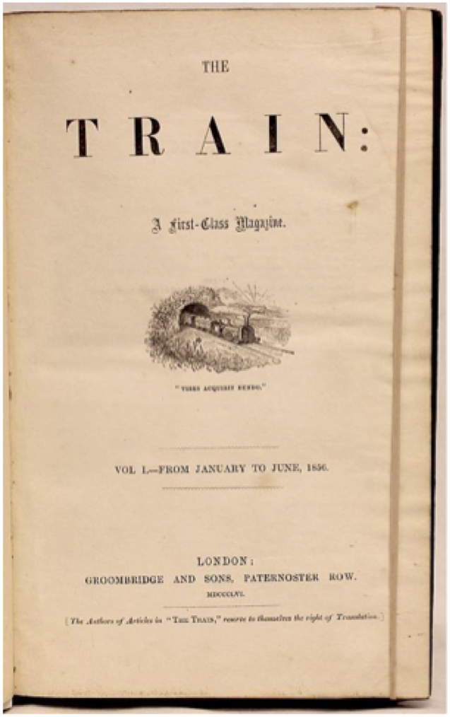 Title page for The Train (1856).