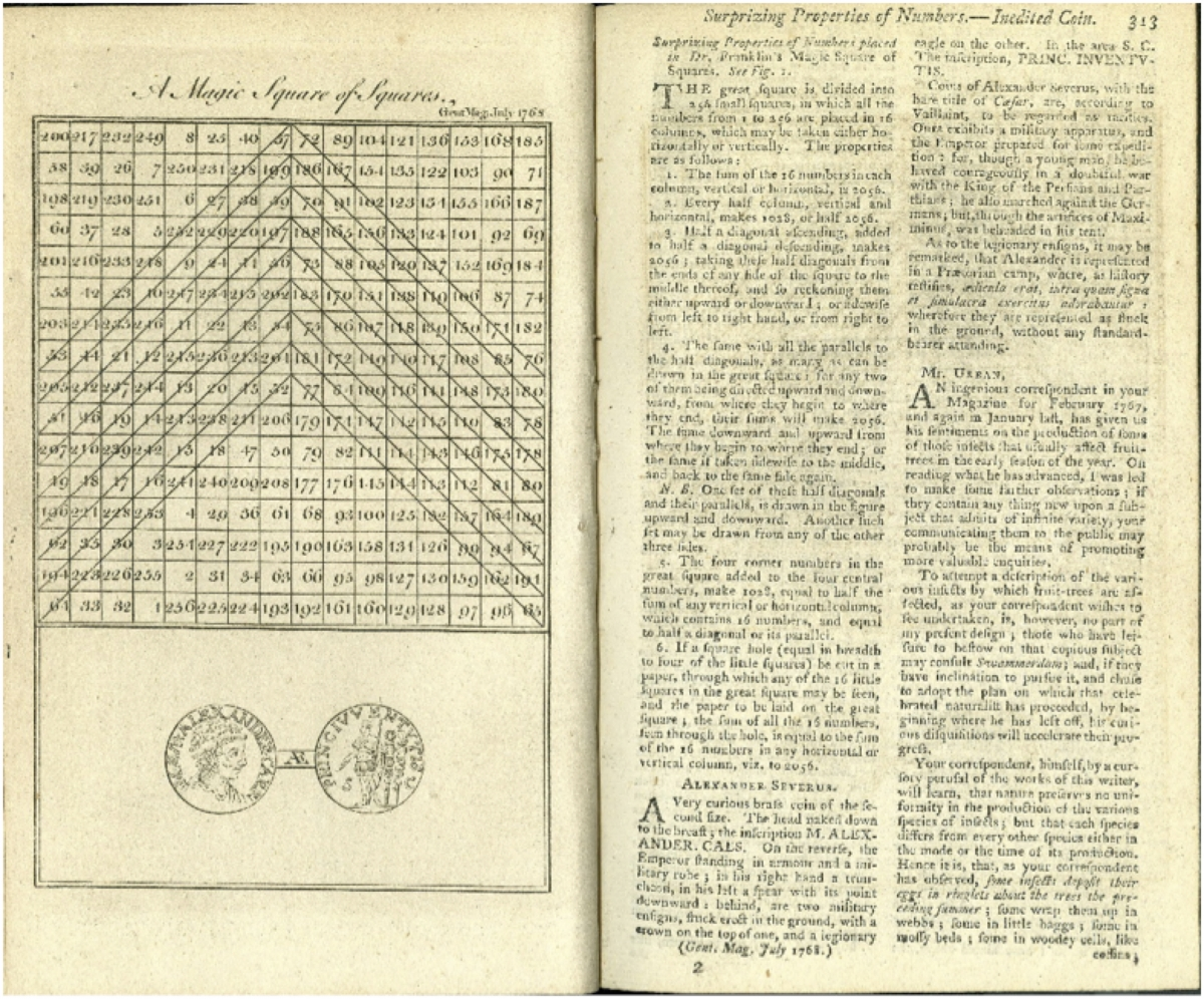 Pages 312-313 from July 1768 Gentleman's Magazine.