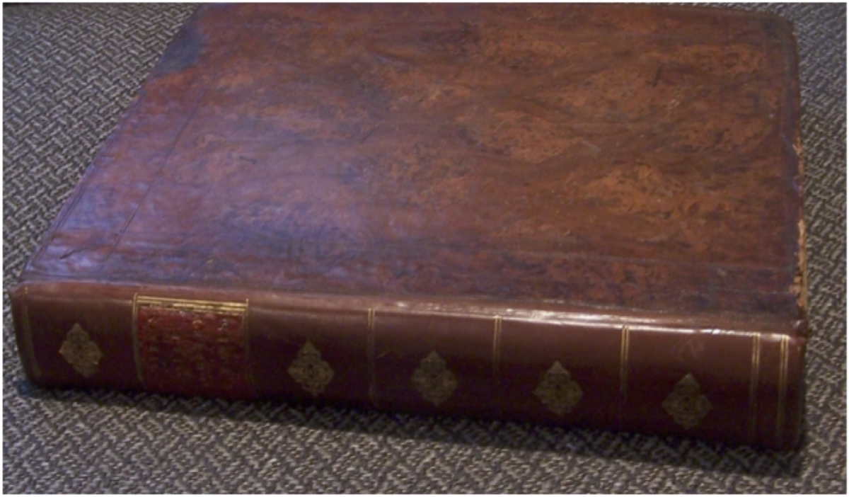 Tree calf binding of Cowley's Solid Geometry.