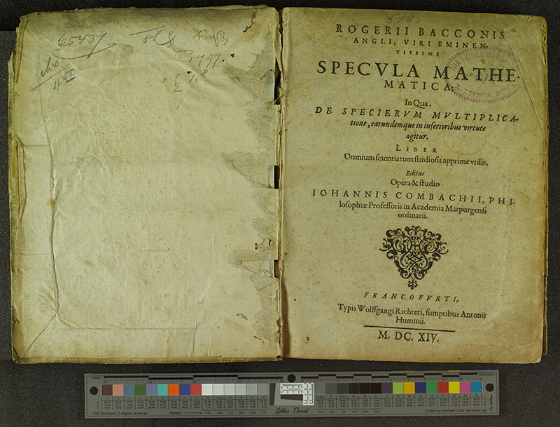 Title pages: Specula