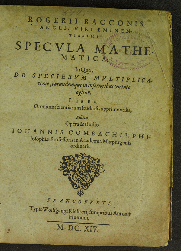 Title page: Specula