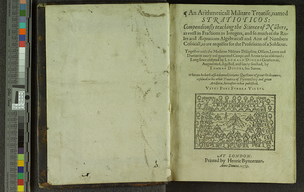 Title page spread of Stratioticos