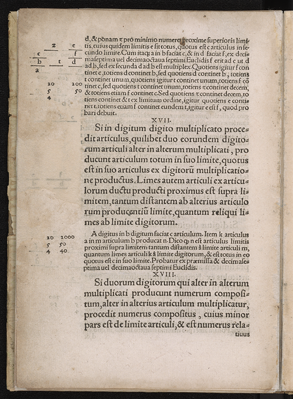 Page 10 of Algorithmus Demonstratus, Regiomontanus, 1534