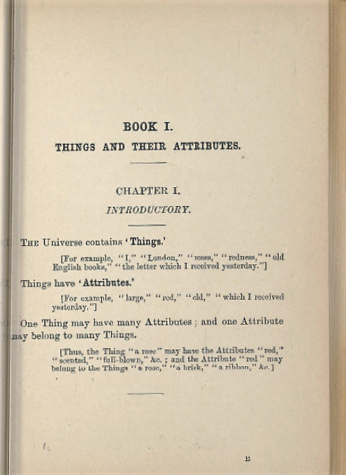 Page 1 of chapter 1 from Symbolic Logic, Part I by Lewis Carroll/Charles Dodgson, 1896