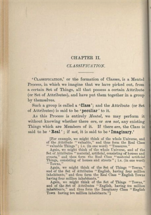 Page 1 of chapter 2 from Symbolic Logic, Part I by Lewis Carroll/Charles Dodgson, 1896