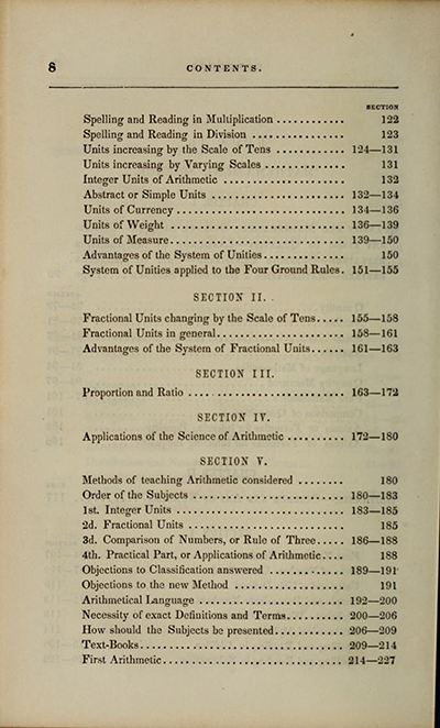 Table of Contents, Charles Davies, The Logic and Utility of Mathematics