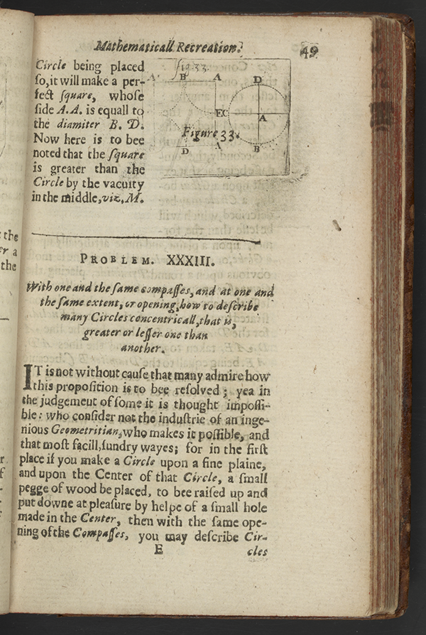 Page 49 of  Mathematicall Recreations, 1633