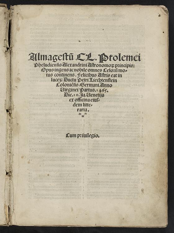 Mathematical Treasure: Ptolemy's Almagest   Mathematical Association