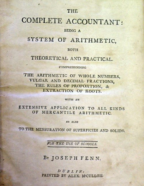 Title page of The Complete Accountant by Joseph Fenn, 1772