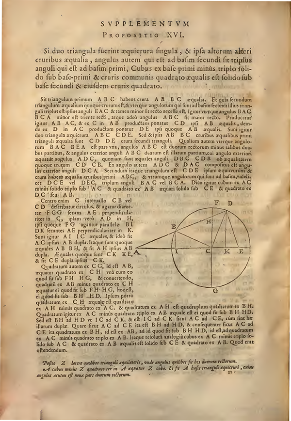 Proposition XVI from Supplementum Geometriae by Francois Viete, 1593