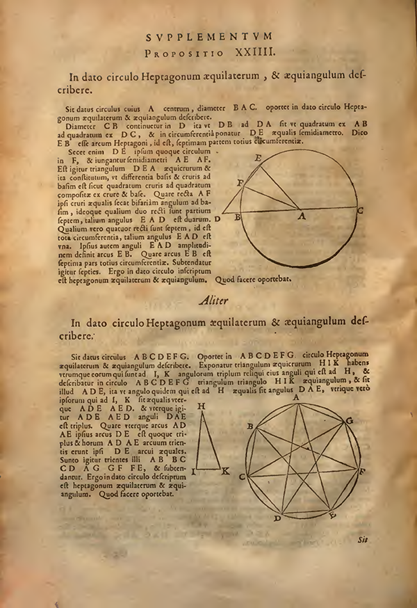 Proposition XXIIII from Supplementum Geometriae by Francois Viete, 1593