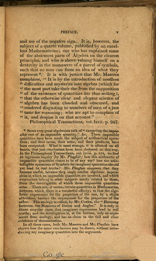 Third page of Preface to Rudiments of Mathematics by William Ludlam, 1809 edition