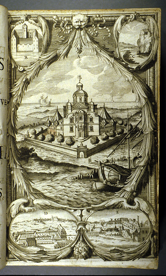 Frontispiece of Historia caelestis by Albert Curtz, 1666
