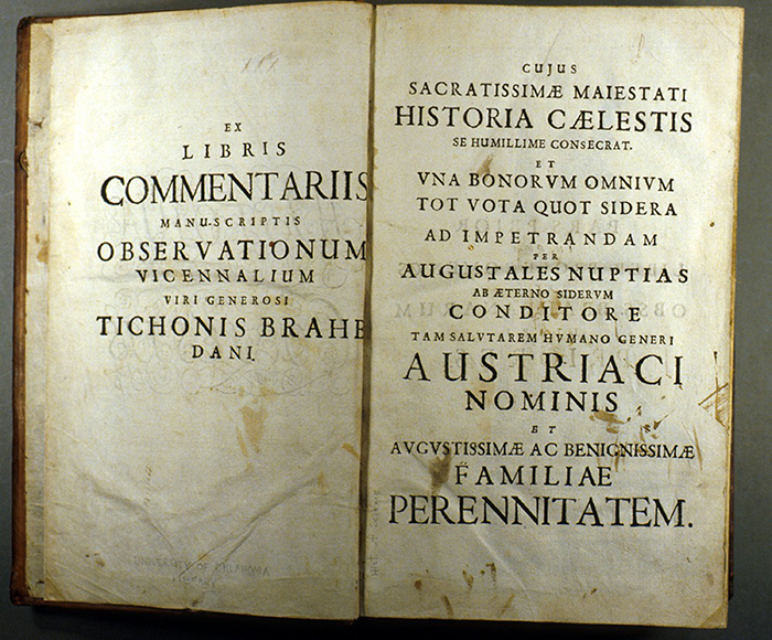 Title page of Historia caelestis by Albert Curtz, 1666