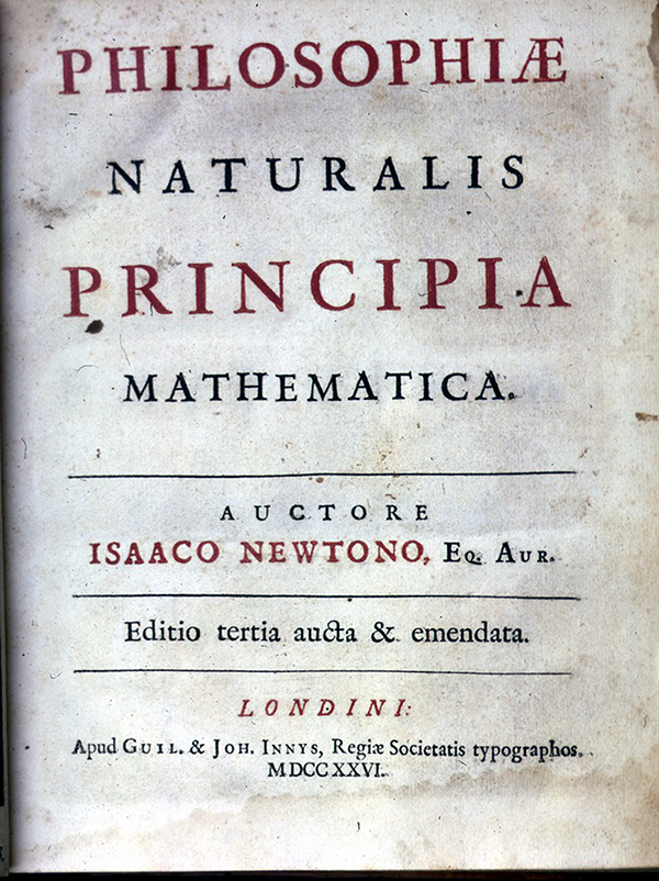 Title page of Philosophiae Naturalis Principia Mathematica by Isaac Newton, third edition, 1726
