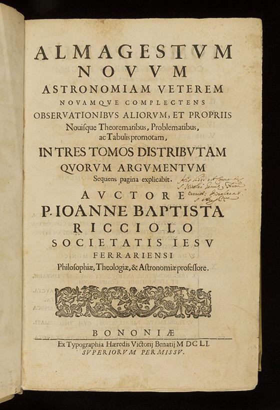Mathematical Treasure: Riccioli's New Almagest   Mathematical