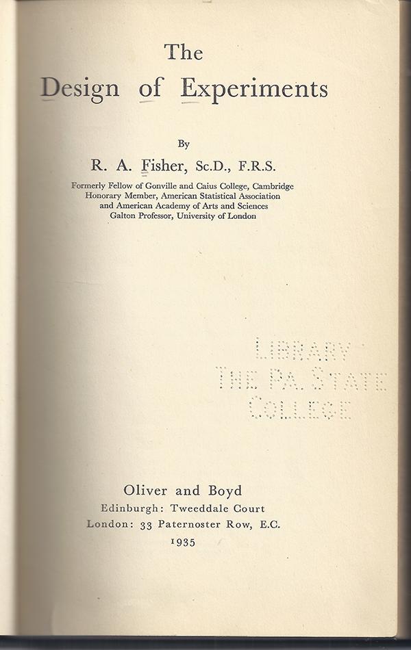 mathematical treasure  r  a  fisher u2019s statistics books