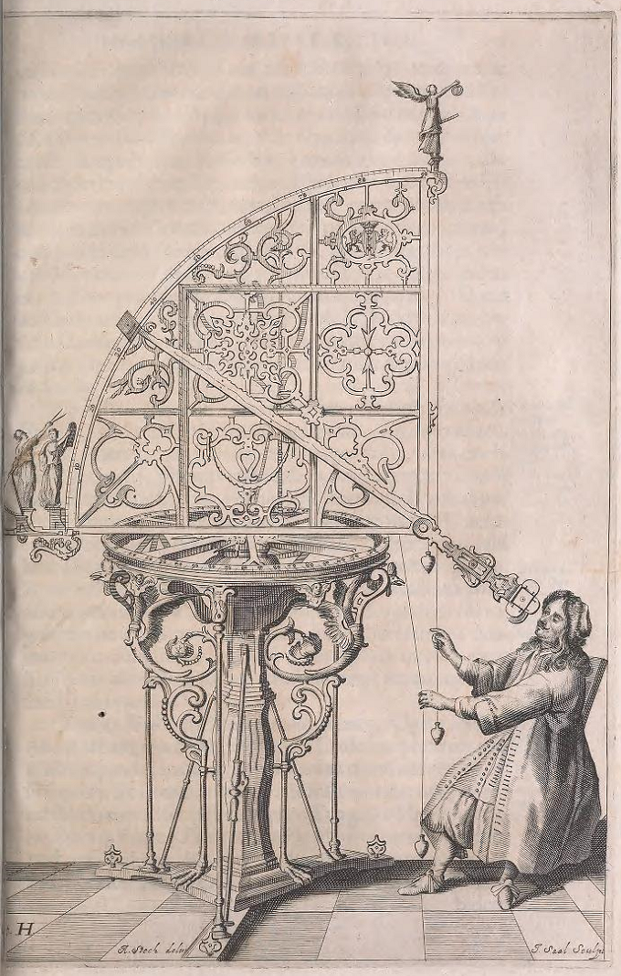Figure H from Machina coelestis by Johannes Hevelius, volume 1, 1673