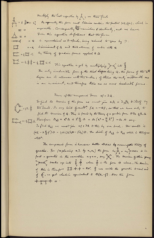 A second facsimile of handwritten manuscript from Mathematical Fragments by William Clifford, 1881