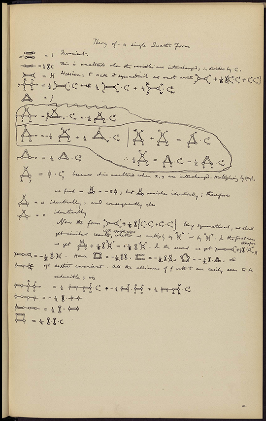 A third facsimile of handwritten manuscript from Mathematical Fragments by William Clifford, 1881