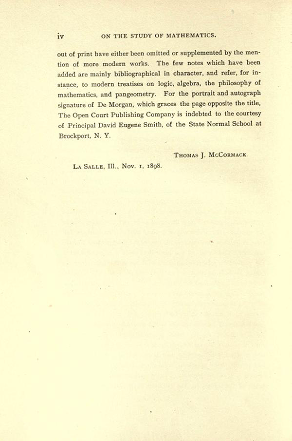 Page 2 of the Editor's Note in On the Study and Difficulties of Mathematics by Augustus De Morgan