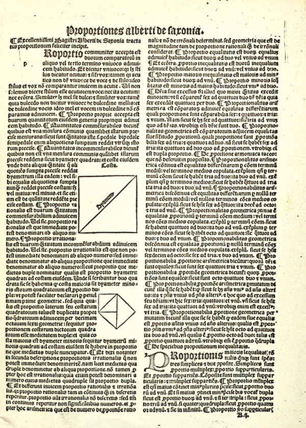 Sample page from Tractatus proportionum by Albert of Saxony