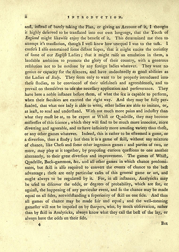 "Second page of ""The Plan of the Lady's System of Analyticks"" from English Translation of Maria Agnesi's Analytical Institutions published in 1801"