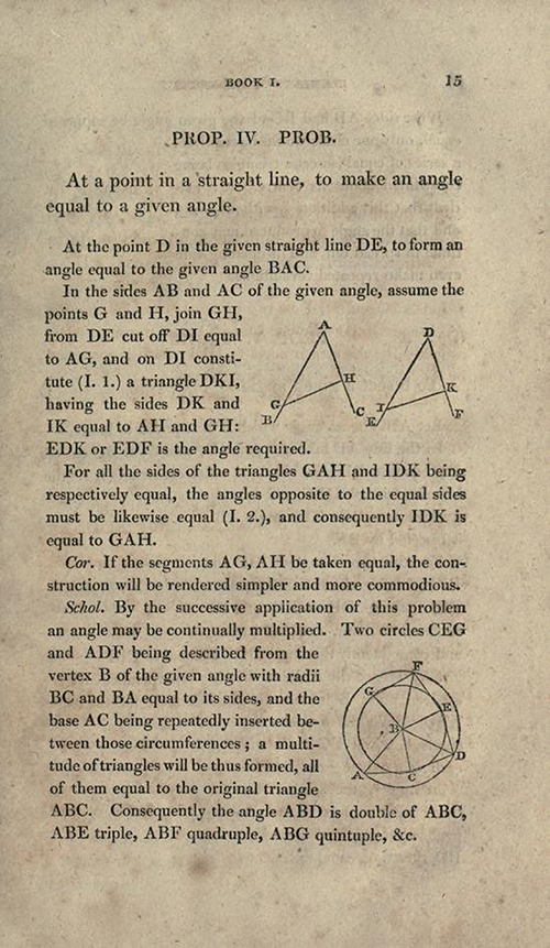 Page 15 of Elements of Geometry and Plane Trigonometry by John Leslie, third edition, 1817