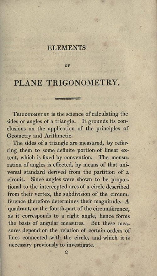 Page 225 of Elements of Geometry and Plane Trigonometry by John Leslie, third edition, 1817
