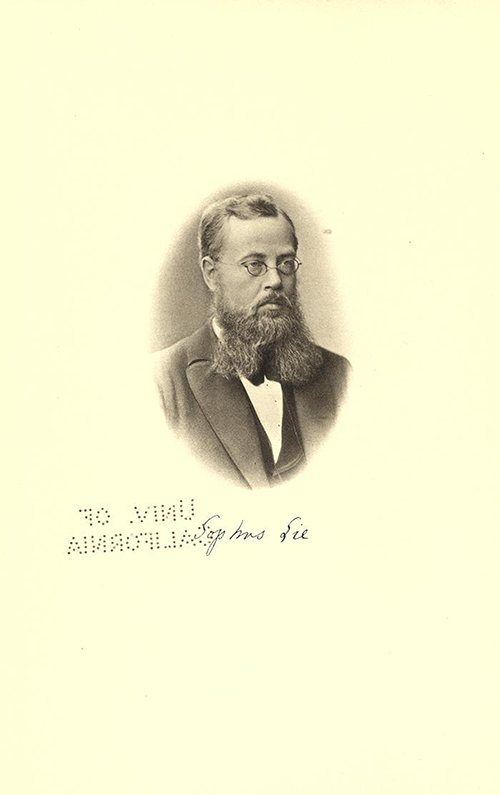 Photograph of Sophus Lie from volume I of Gesammelte Abhandlungen, 1934