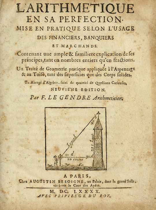 Title page for 1690 edition of The Arithmetic in its Perfection.