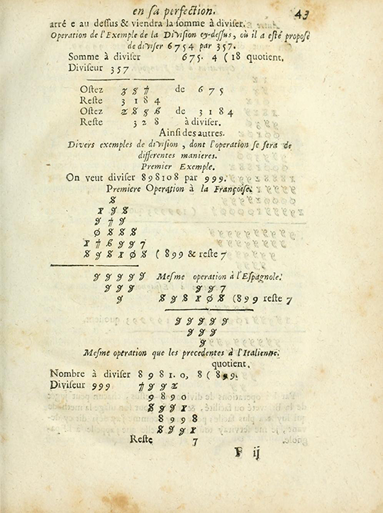 Page 43 from 1690 edition of The Arithmetic in its Perfection.