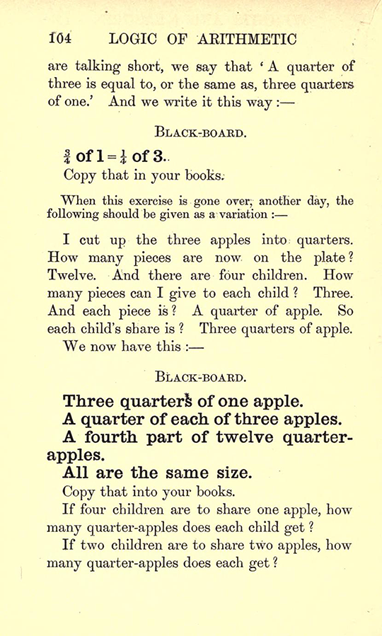 Page 104 from Lectures on the Logic of Arithmetic by Mary Boole, 1903