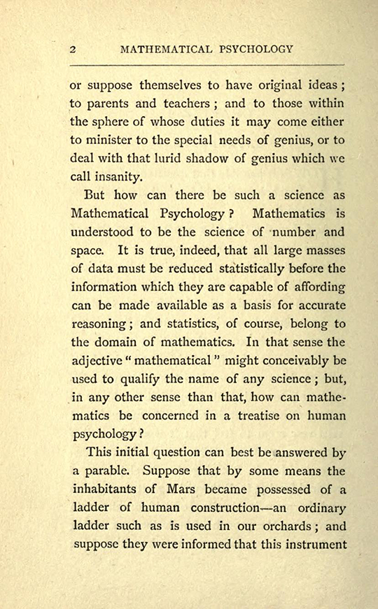 Page 2 from The Mathematical Psychology of Gratry and Boole by Mary Boole, 1897