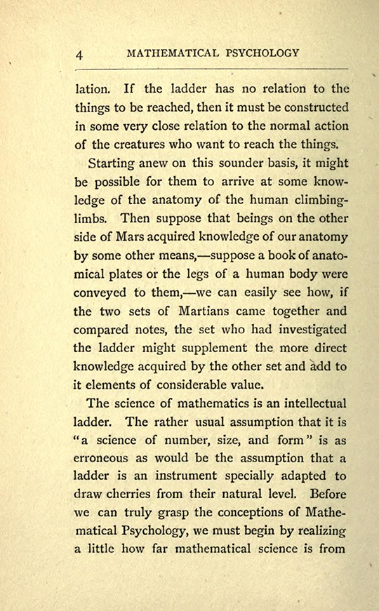 Page 4 from The Mathematical Psychology of Gratry and Boole by Mary Boole, 1897