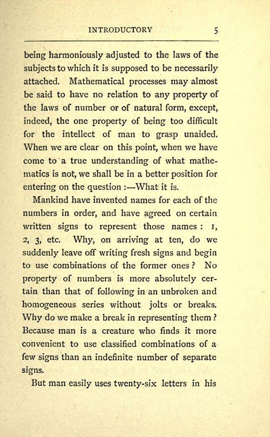 Page 5 from The Mathematical Psychology of Gratry and Boole by Mary Boole, 1897