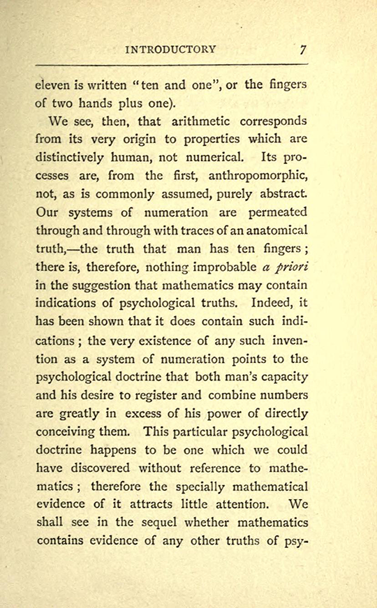 Page 7 from The Mathematical Psychology of Gratry and Boole by Mary Boole, 1897
