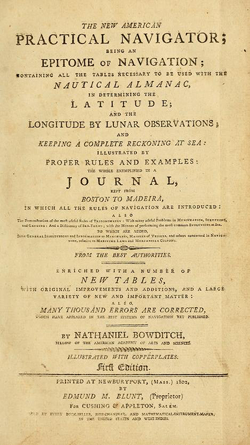 Title Page for The New American Practical Navigator by Nathaniel Bowditch
