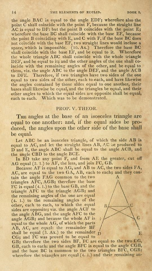 Page 14 of Elements of Euclid by Robert Simson (1834)