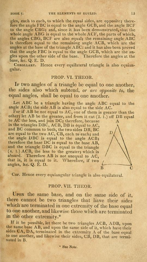 Page 15 of Elements of Euclid by Robert Simson (1834)