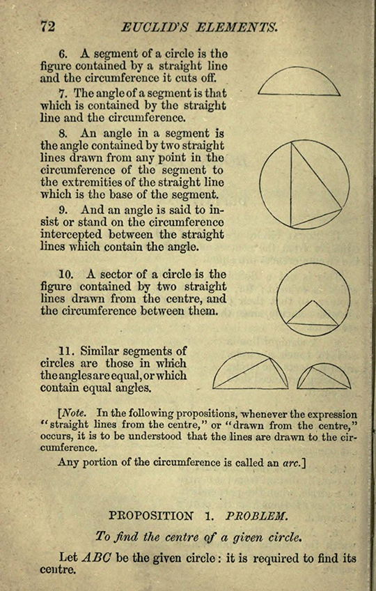 Second page from Chapter III of The Elements of Euclid by Isaac Todhunter, 1872