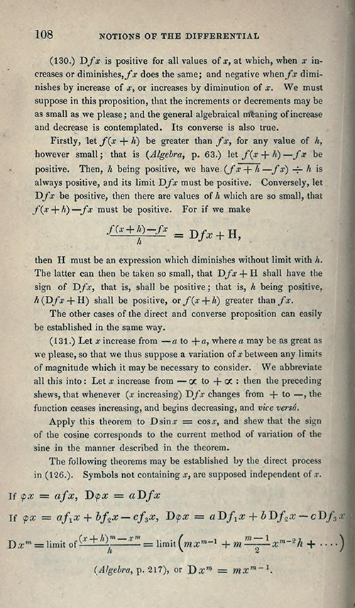 Page 108 of Elements of Trigonometry and Trigonometrical Analysis by Augustus De Morgan