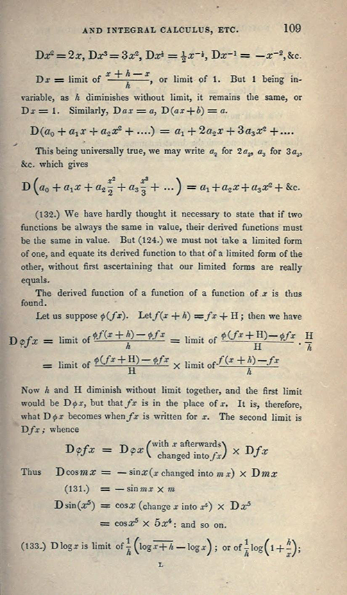 Page 109 of Elements of Trigonometry and Trigonometrical Analysis by Augustus De Morgan