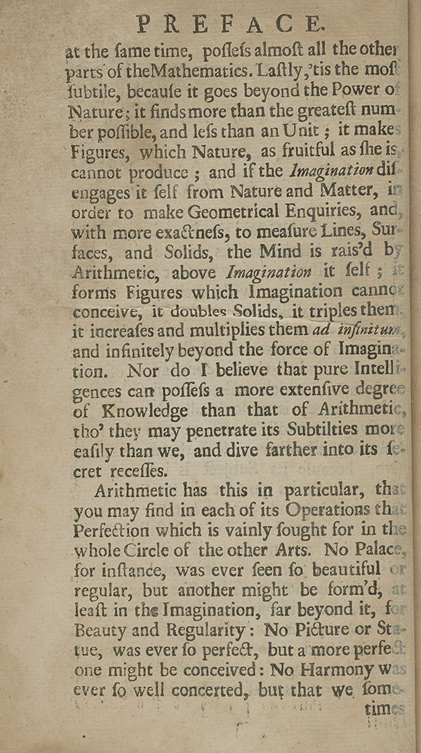 Page 23 of A Complete Course of the Mathematicks (1712).